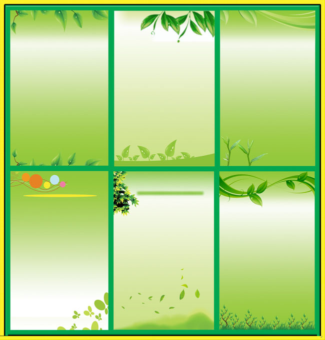 绿色展板设计psd分层素材