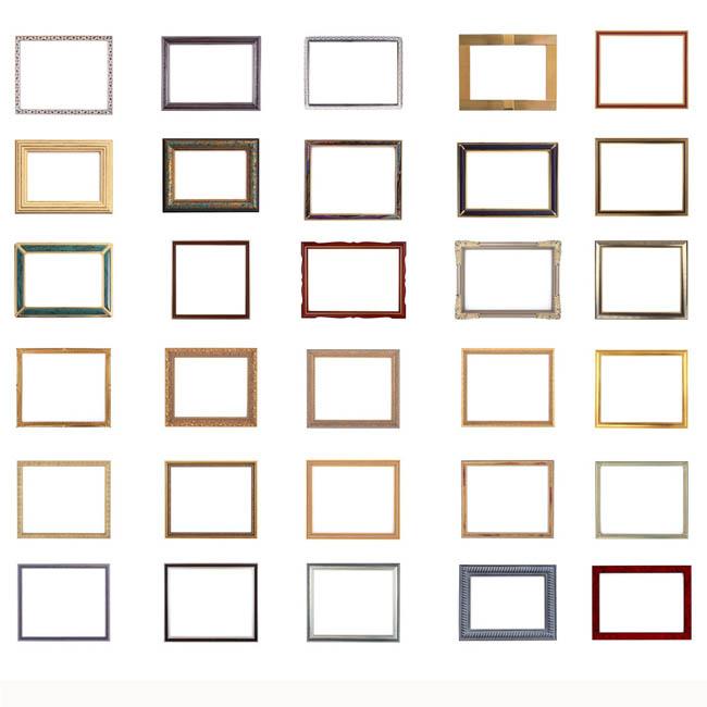 素材/古典细边相框边框PSD素材
