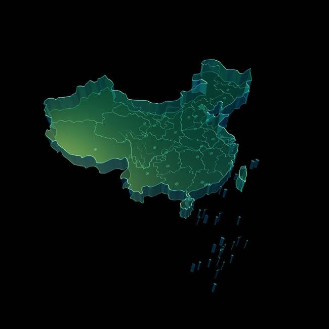 中国地图psd分层素材 - 爱图网设计图片素材下载