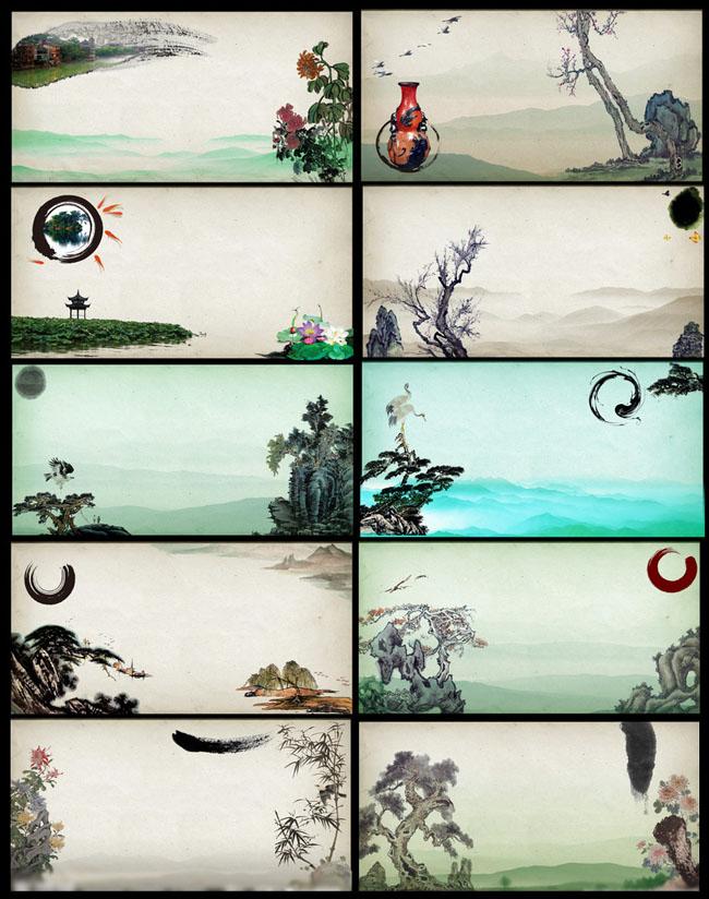素材 背景/古典背景名片卡片设计PSD素材