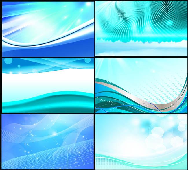 动感线条矢量素材_绚丽蓝色展会展板背景PSD素材 - 爱图网设计图片素材下载
