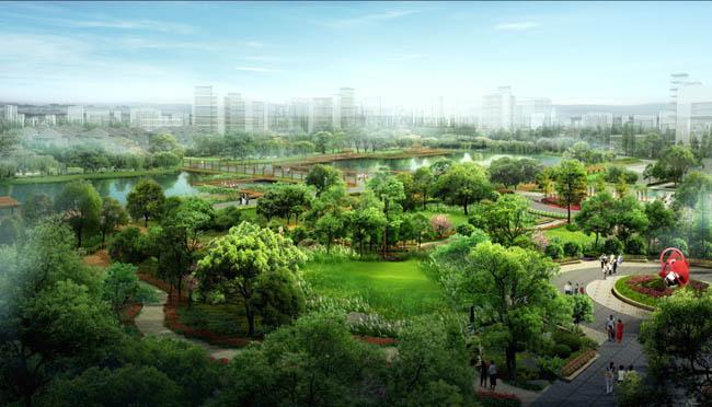 关键字: 景观设计园林景观设计效果图景观园林设计绿化鸟瞰公园鸟瞰