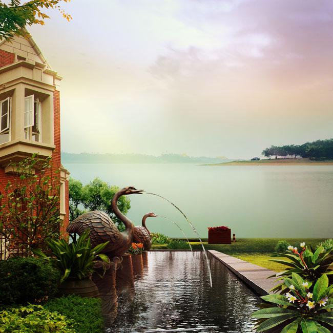 好看的别墅风景图片