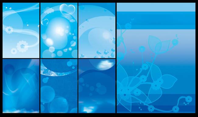 蓝调海报背景设计psd素材