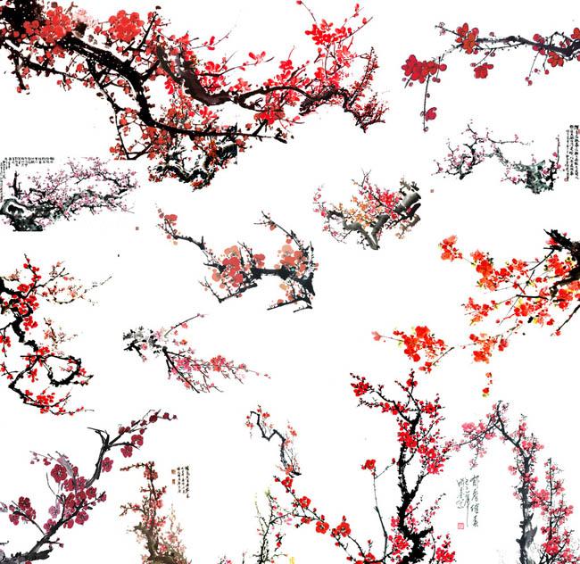 中国画 中国风模板 水墨画模板 分层素材 背景 水墨 水墨画 山 山水