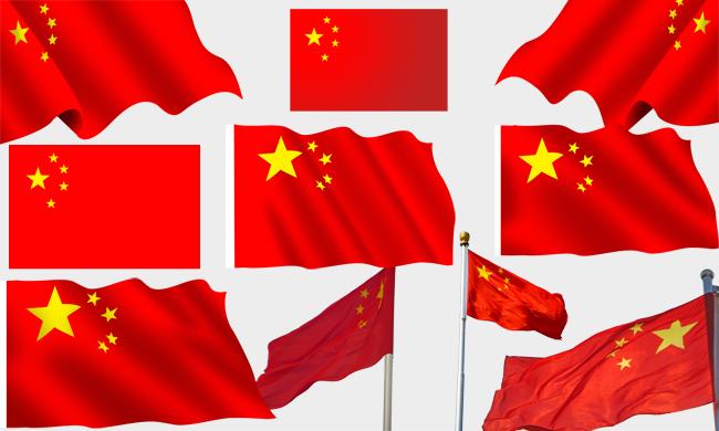 中国国旗psd素材 - 爱图网设计图片素材下载