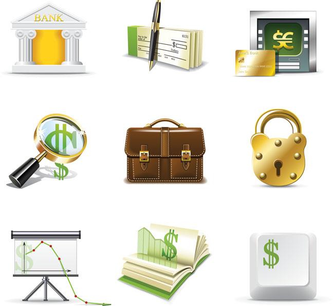 商务金融图标矢量素材