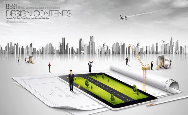 城市建筑与规划PSD素材