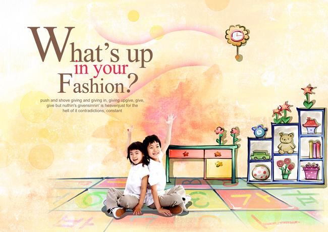 psd素材 人物图片 > 素材信息   关键字: 韩国儿童卡通背景装饰可爱