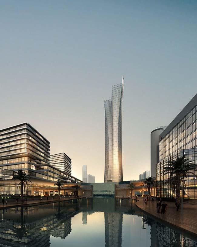 关键字: 商务大楼大厦景观效果图环境艺术设计中式园林当代建筑文化