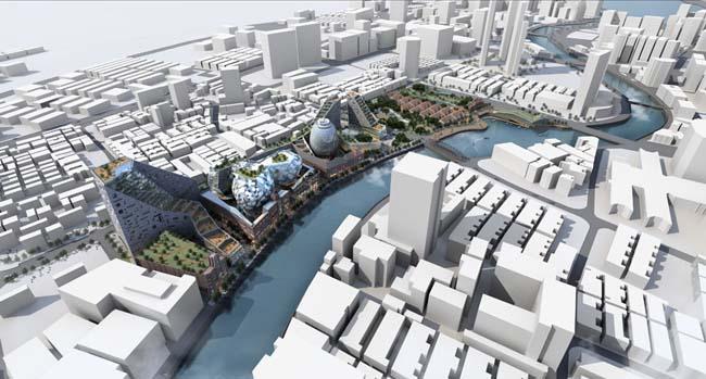 城市建筑 景观设计 环艺设计 建筑设计 城市鸟瞰图 建筑效果图 中式园