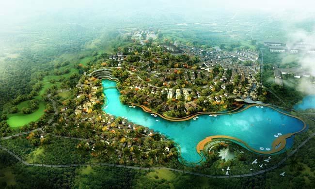 psd素材 其它类别 > 素材信息   关键字: 城市鸟瞰图绿化景观园林景观