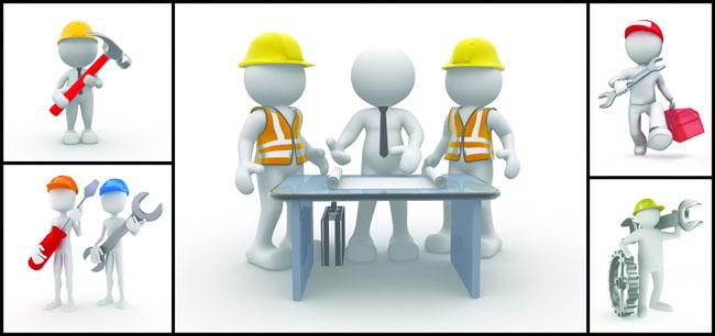 修理工小人_3D工程小人高清图片 - 爱图网设计图片素材下载