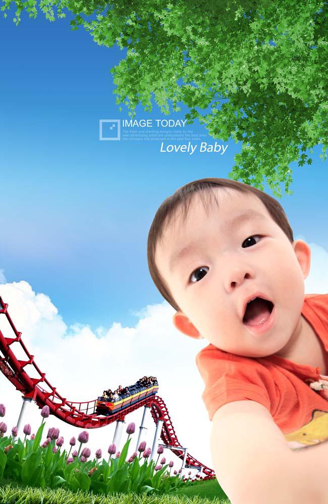 小孩风景图片大全可爱