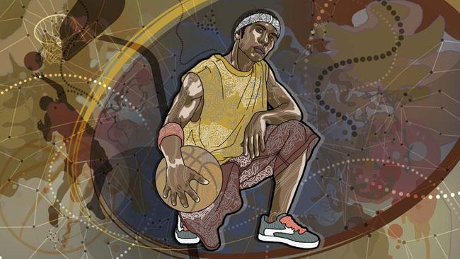 爱图首页 psd素材 人物图片 街头篮球 人物油画 国外插画 插画素材