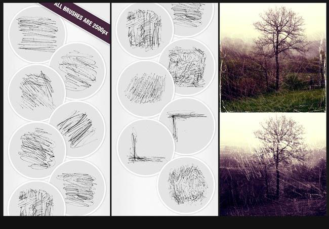 线条划痕ps笔刷 - 爱图网设计图片素材下载