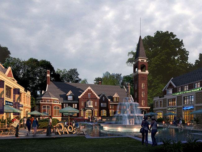 欧式园林建筑景观设计广场