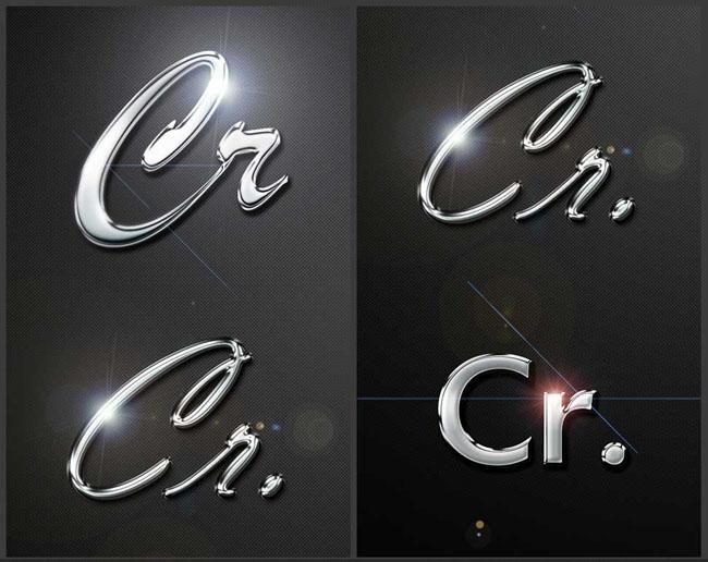 光照效果PS字体样式
