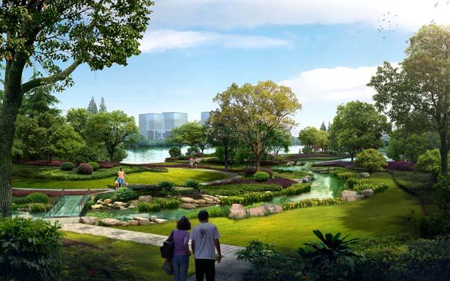 > 素材信息   关键字: 园林绿化绿色草地草地树木园林景观设计环艺