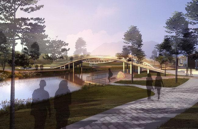 图建筑设计景观园林景观设计公园树木草地环艺设计环境设计psd素材