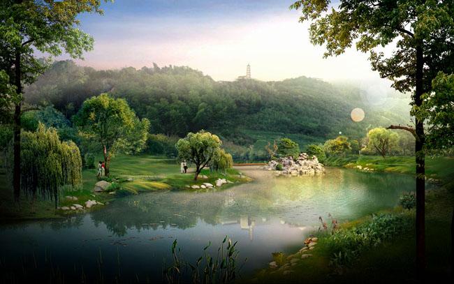 在公园平静的湖水中,经常能看到从湖底,产生的气泡向上升,则气泡在