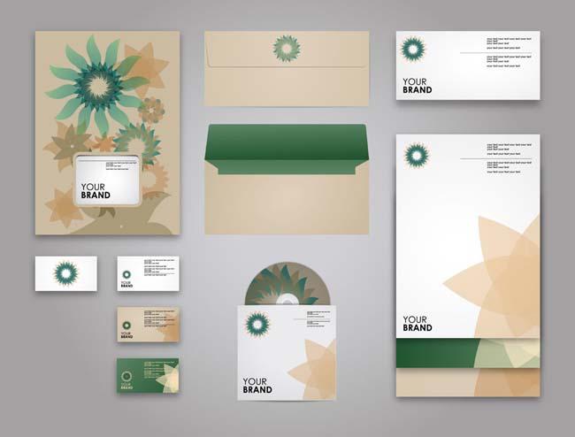 光盘与信封标识vi设计矢量素材