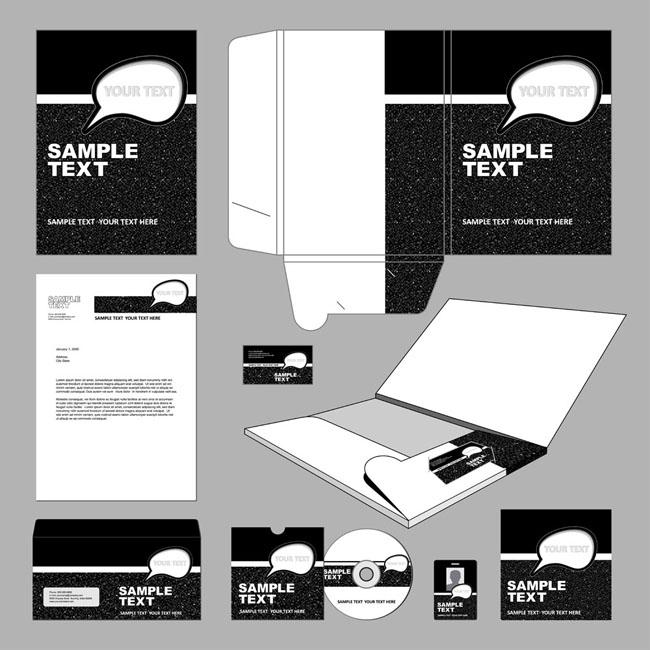 光盘包装包装盒信封邮件名片vivi设计包装