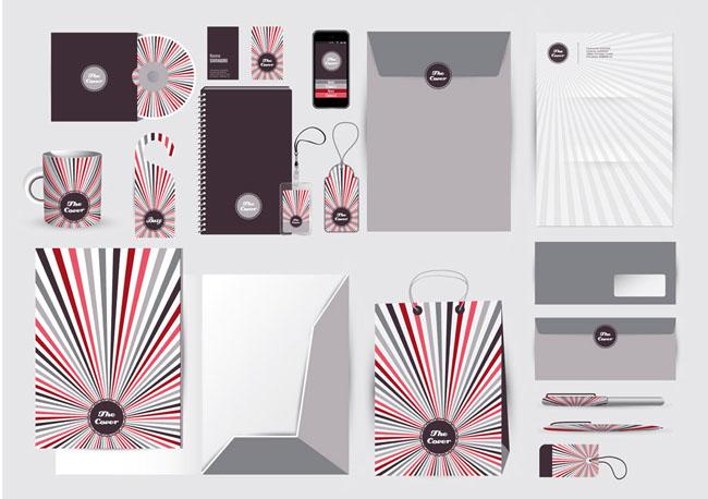 包装袋挂件设计矢量素材