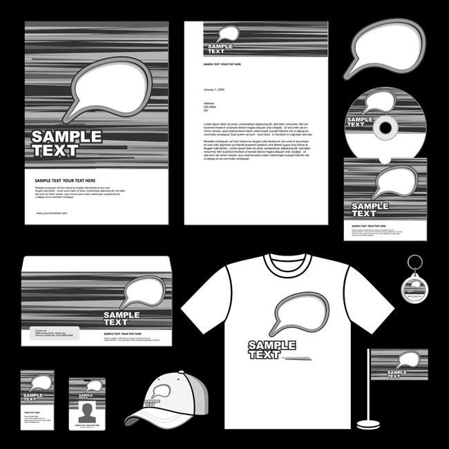 帽子 吊牌 工作证 名片 卡片 传单 海报 展板 vi模板 vi设计 矢量素材