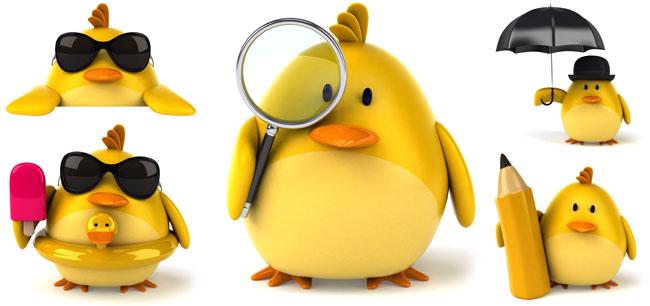 可爱鸭子图片素材