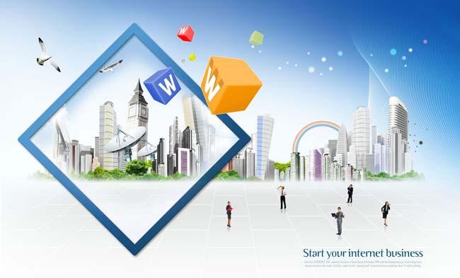 科技商业设计模板PSD素材