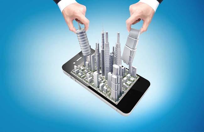 手机上的建筑PSD素材
