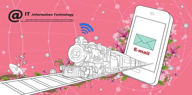 卡通火车与手机psd素材