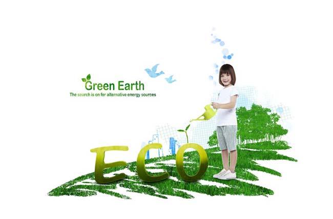 关键字: 绿色草地爱护环境幼苗韩国素材封面设计浇水小女孩绿色环保